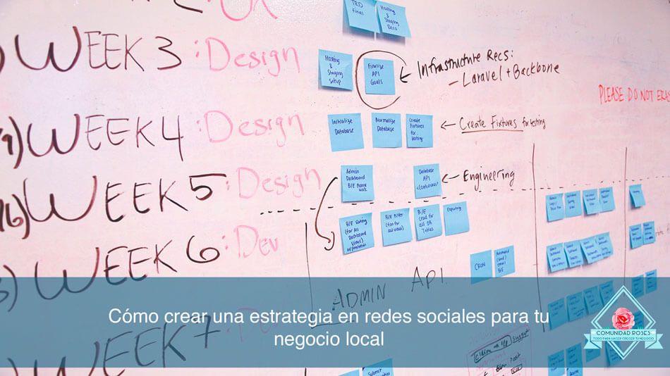 Cómo crear una estrategia en redes sociales para tu negocio local