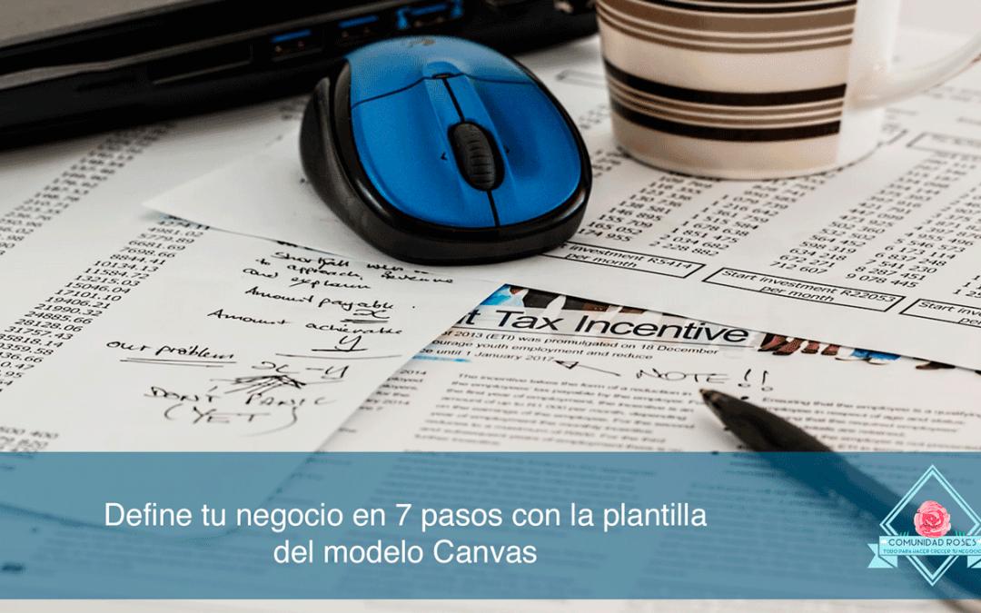 Define tu negocio en 9 pasos con la plantilla del modelo Canvas